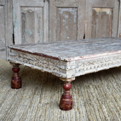 Antique Temple Day Bed Table, Gujarat <b>SOLD<b>